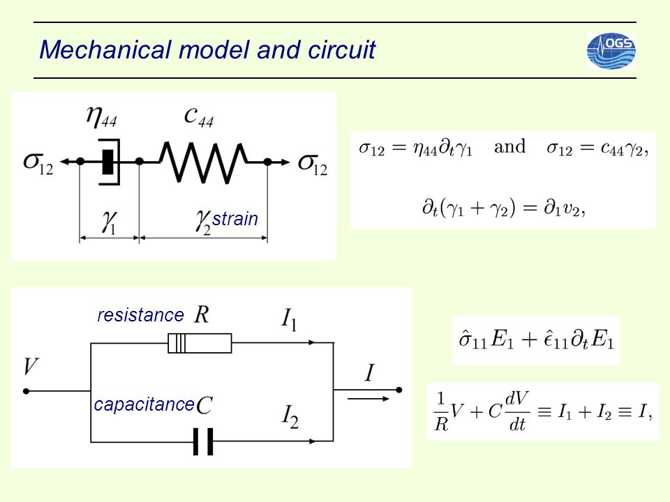 Mechanical model and circuit strain resistance capacitance