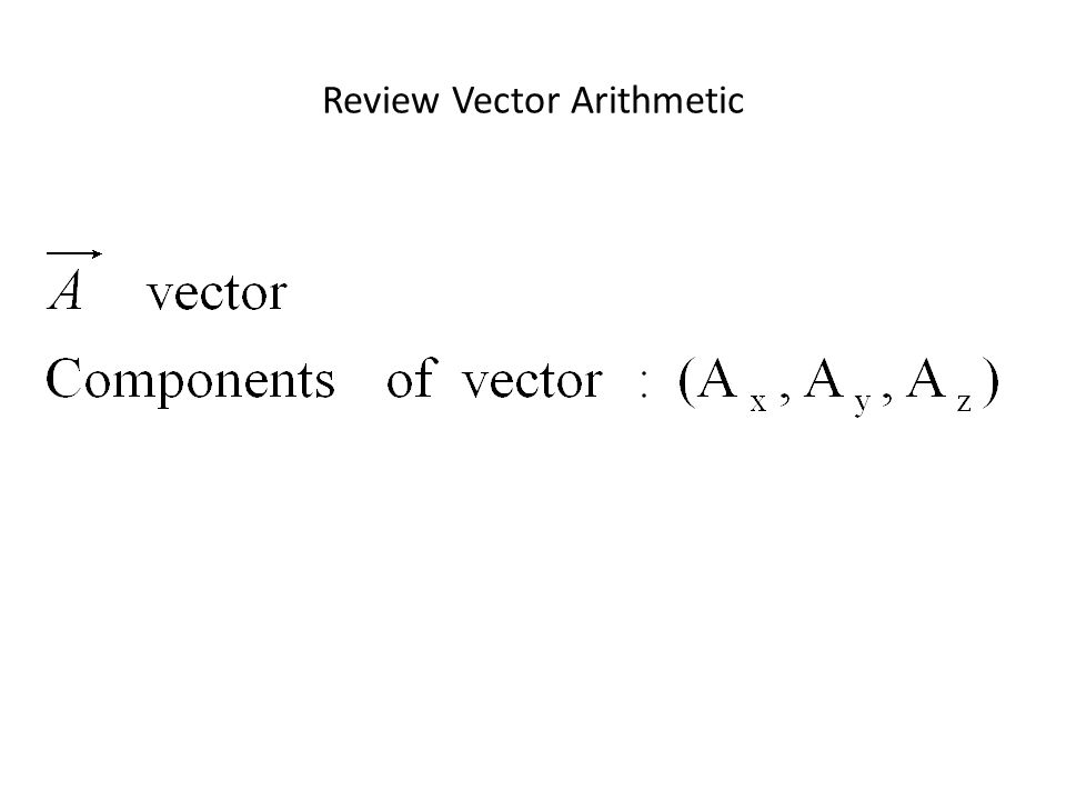 Review Vector Arithmetic