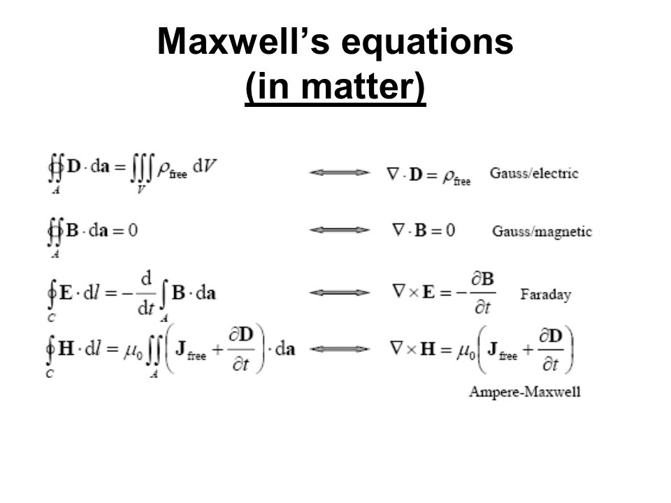 Maxwell's equations (in matter)