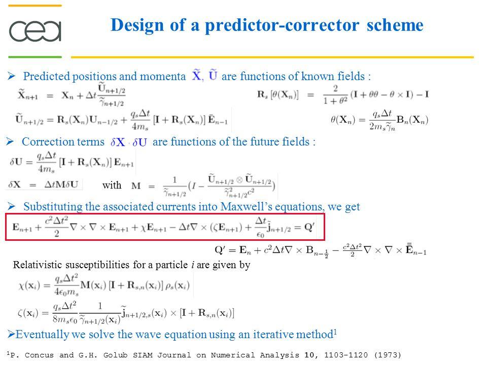 Long irradiation simulations : Quasistatic magnetic field generation Implicit relativistic
