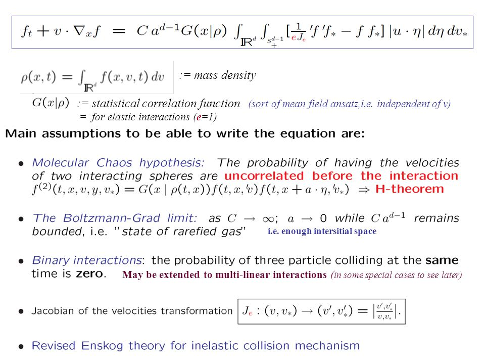The existence theorems for the classical elastic case ( β=e = 1) of Maxwell type of interactions were proved by Morgenstern,Wild 1950s, Bobylev 70s using the Fourier transform Note that if the initial coefficient  φ 0  ≤1, then  Ф n  ≤1 for any n≥ 0.