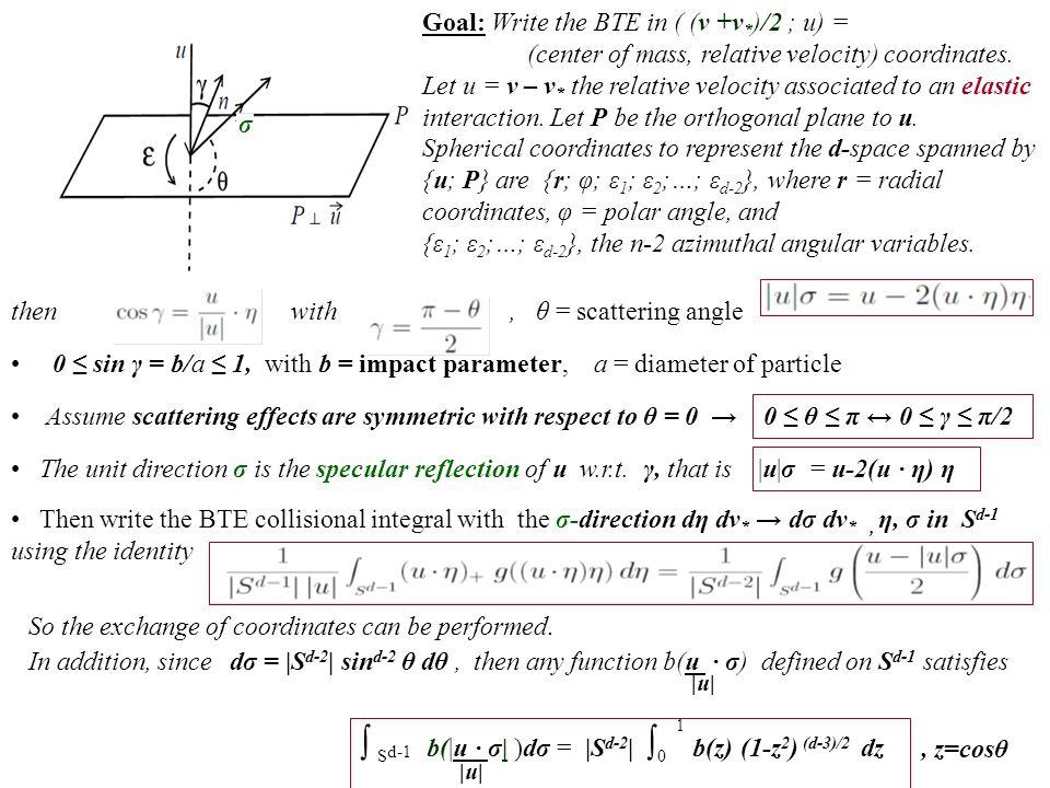 Problem for (elastic) inelastic interaction (B-C-G, JSP'00)