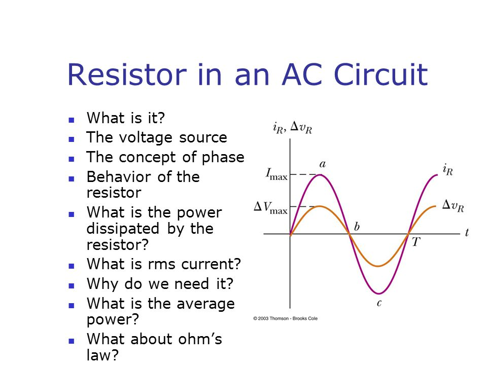 Resistor in an AC Circuit What is it.
