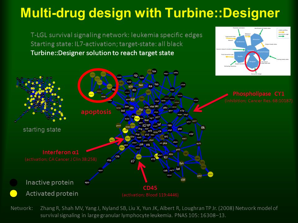Multi-drug design with Turbine::Designer Network: Zhang R, Shah MV, Yang J, Nyland SB, Liu X, Yun JK, Albert R, Loughran TP Jr.
