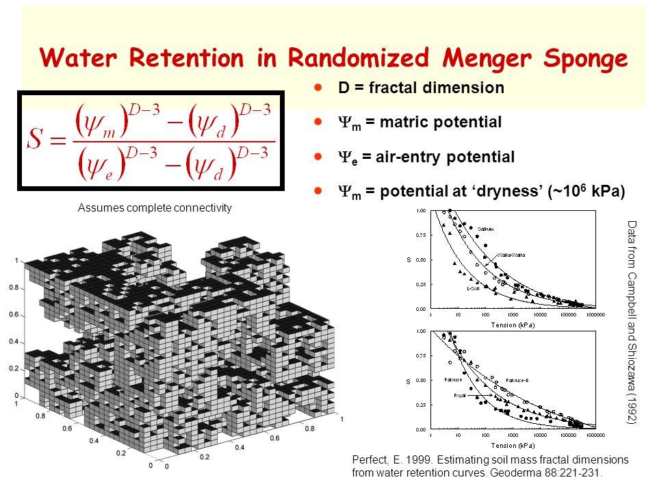 Water Retention in Randomized Menger Sponge Perfect, E.