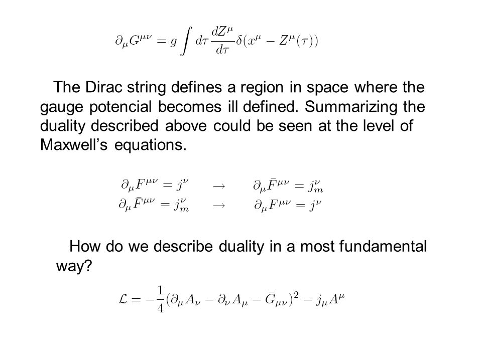 The Dirac string defines a region in space where the gauge potencial becomes ill defined.