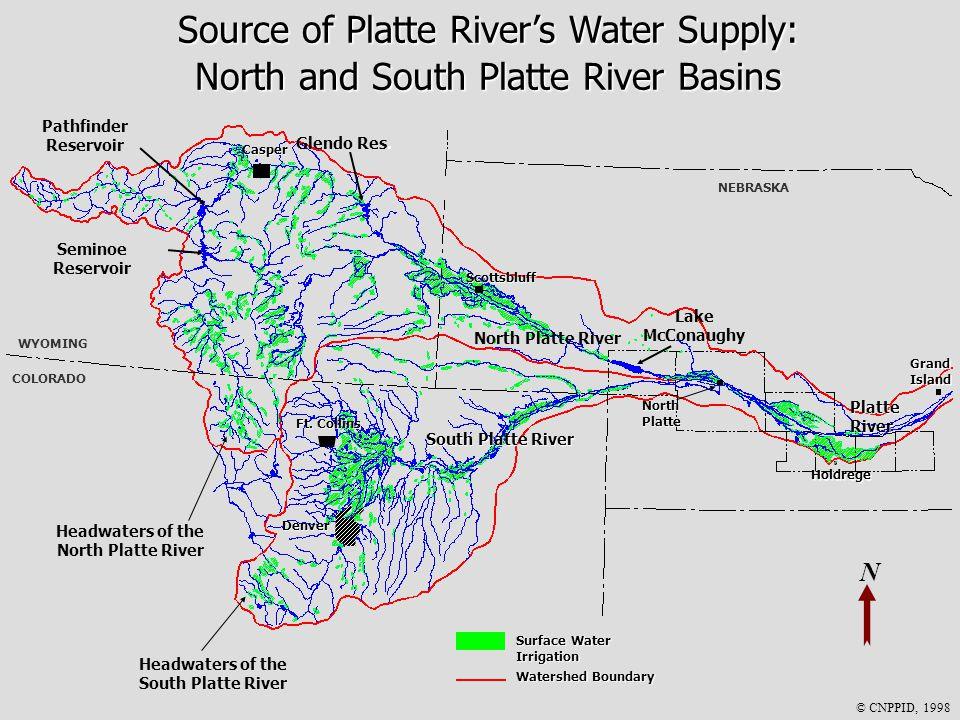 N North Platte River Platte River South Platte River WYOMING COLORADO NEBRASKA Denver Casper Ft.