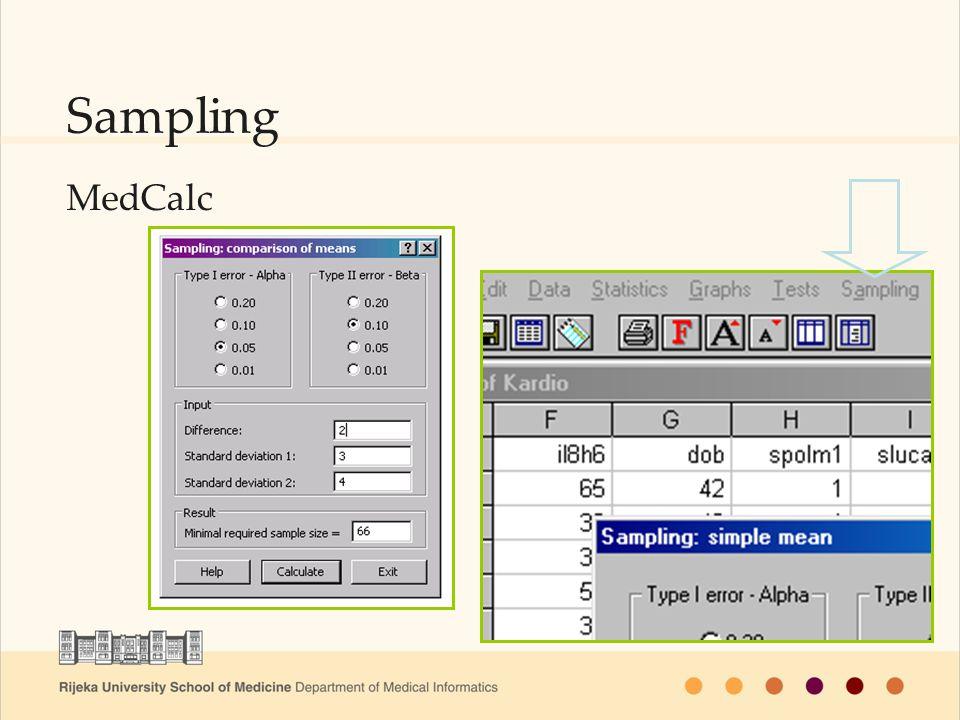 Sampling MedCalc