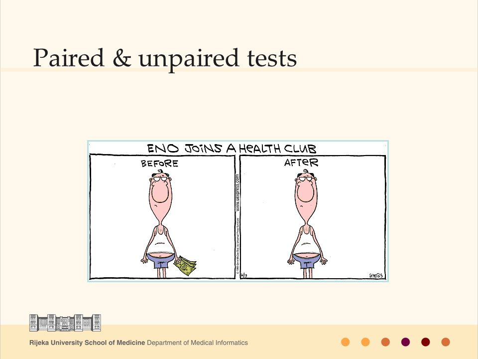 Paired & unpaired tests