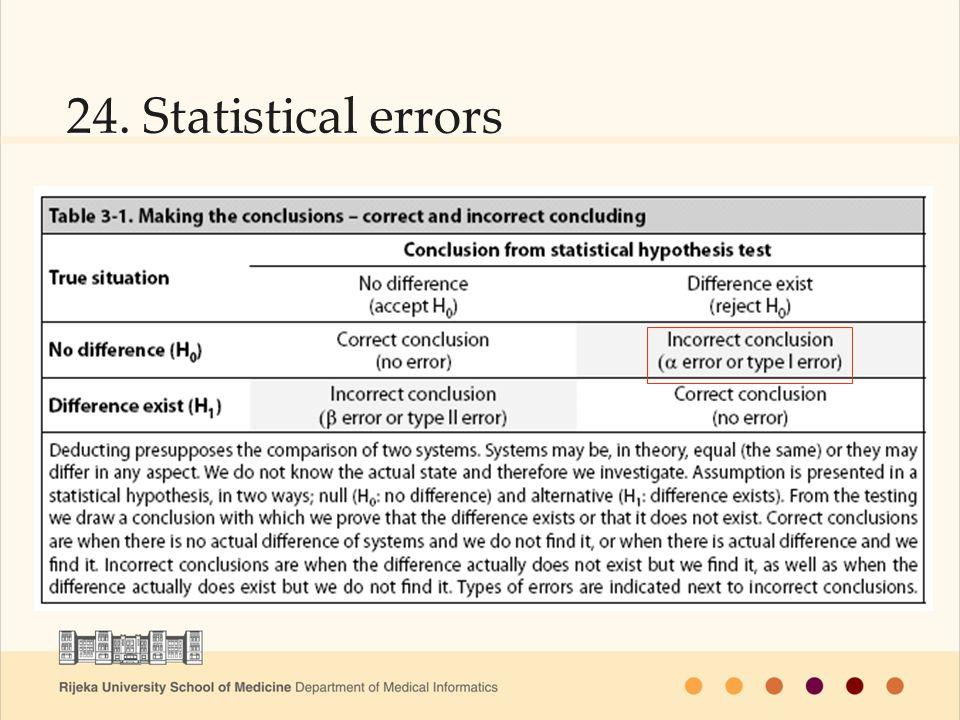 24. Statistical errors