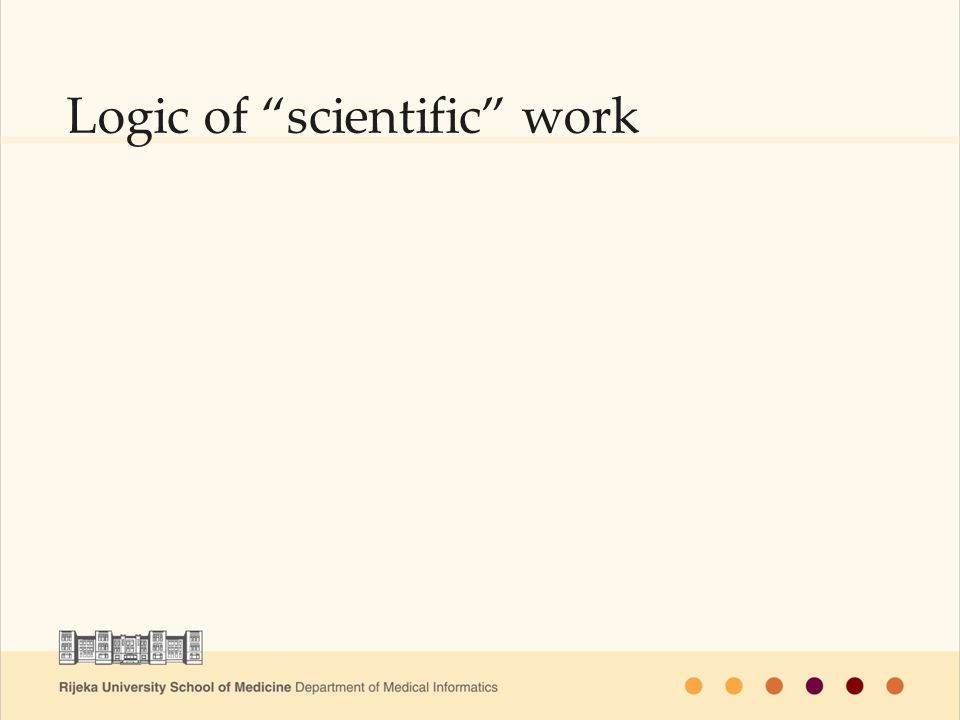"Logic of ""scientific"" work"