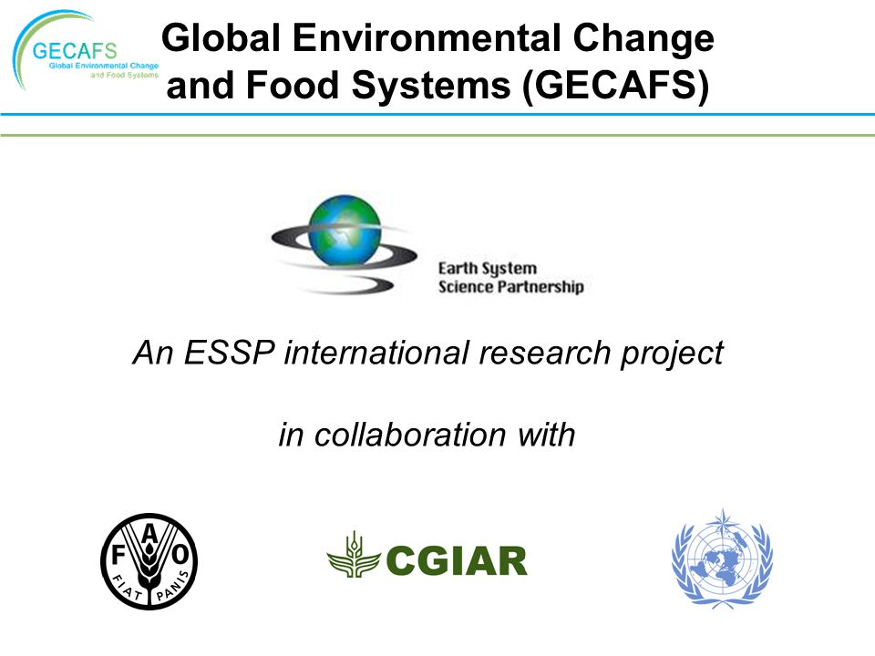 climate change on food security environmental sciences essay Addressing climate change, food security and nutrition and that the fao conduct an environmental health risk global climate change and the science of.