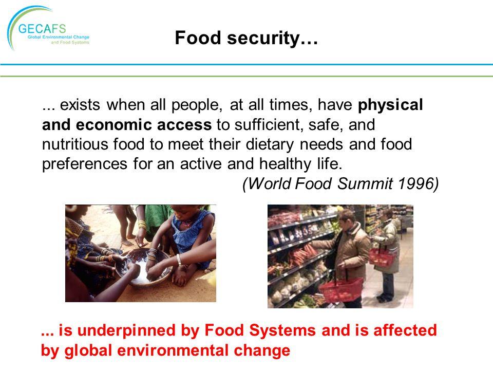 Food security…...