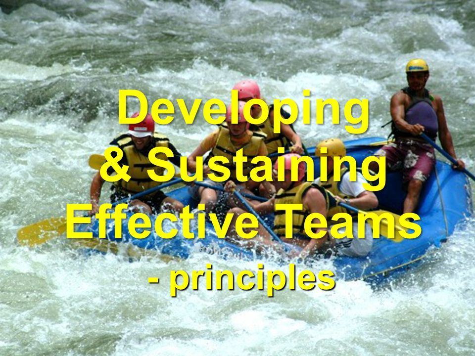 Developing & Sustaining Effective Teams - principles