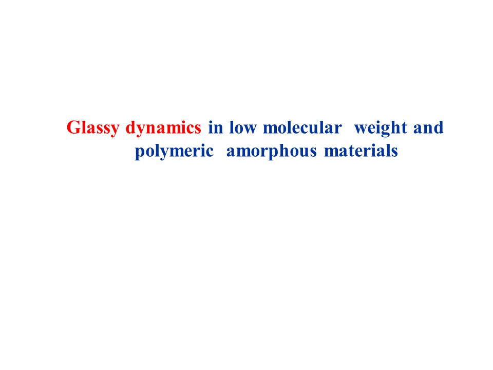 Glassy dynamics in low molecular weight and polymeric amorphous materials
