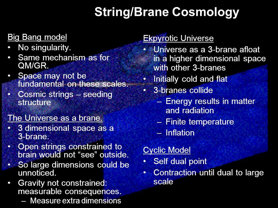 String/Brane Cosmology Big Bang model No singularity.
