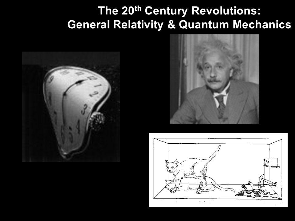 The 20 th Century Revolutions: General Relativity & Quantum Mechanics