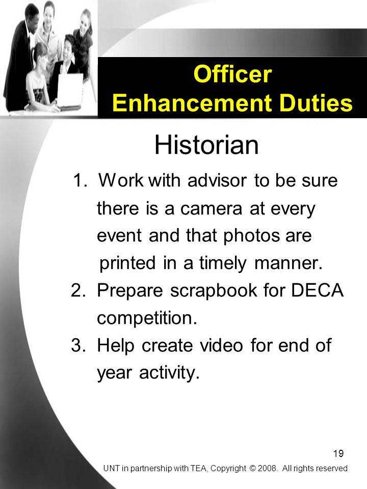 19 Officer Enhancement Duties Historian 1.