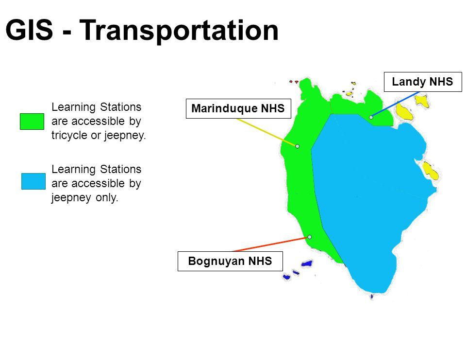 Marinduque NHS Bognuyan NHS Landy NHS Elementary Schools Secondary Schools GIS - Satellite Schools