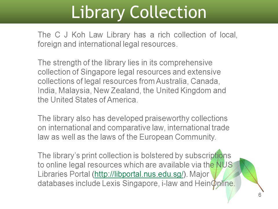 Collection & Facilities 7