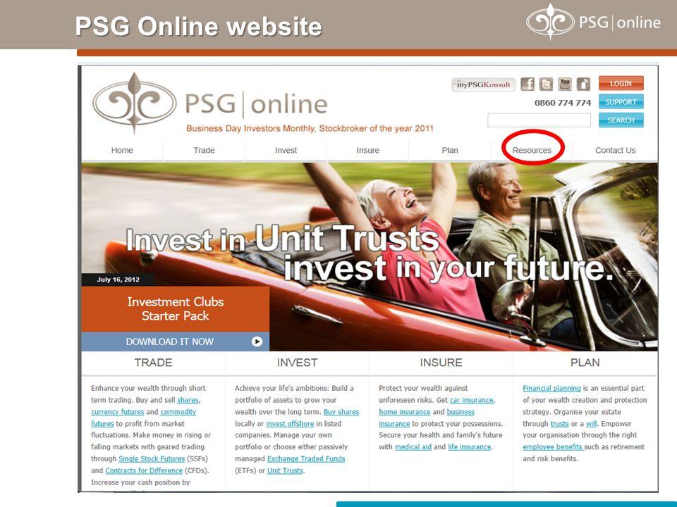 PSG Online website