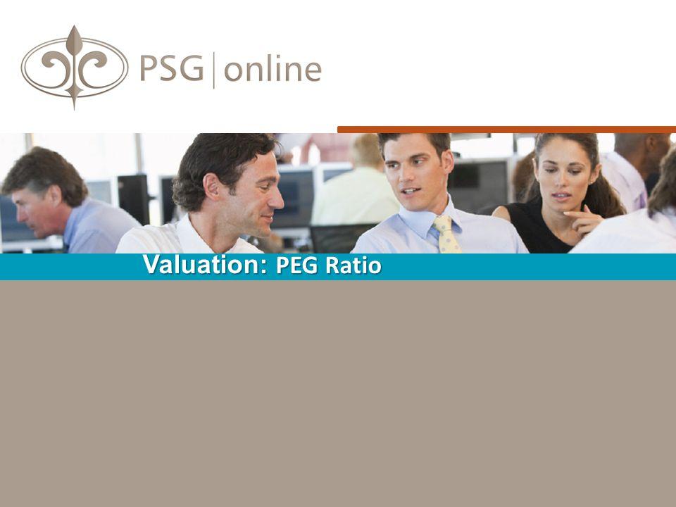 Valuation: PEG Ratio