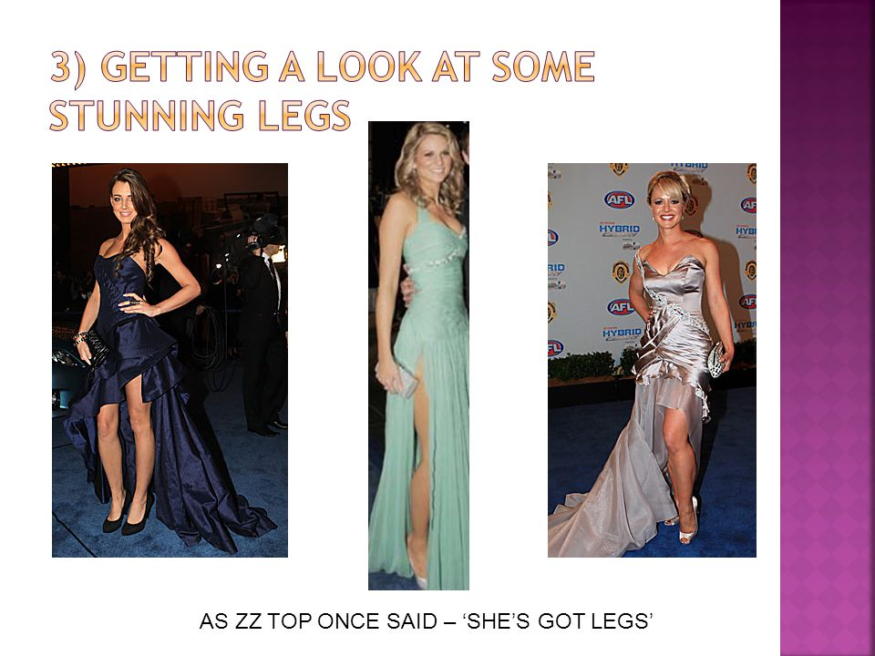 AS ZZ TOP ONCE SAID – 'SHE'S GOT LEGS'
