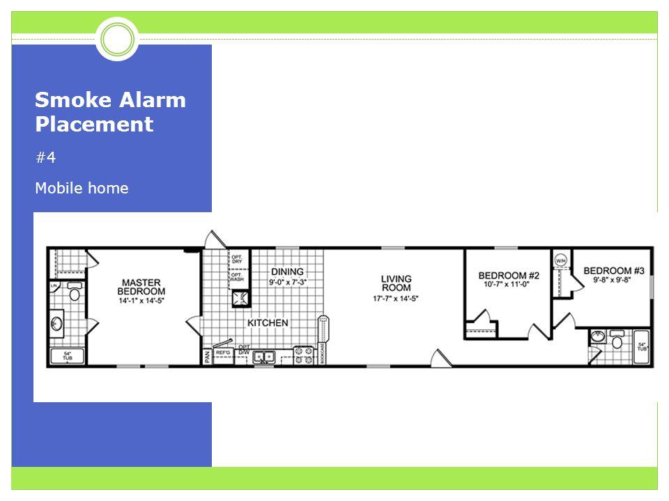 Smoke Alarm Placement #4 Mobile home