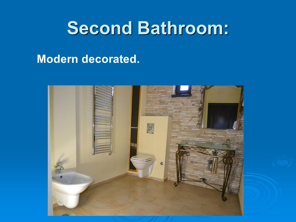 Second Bathroom: Modern decorated.