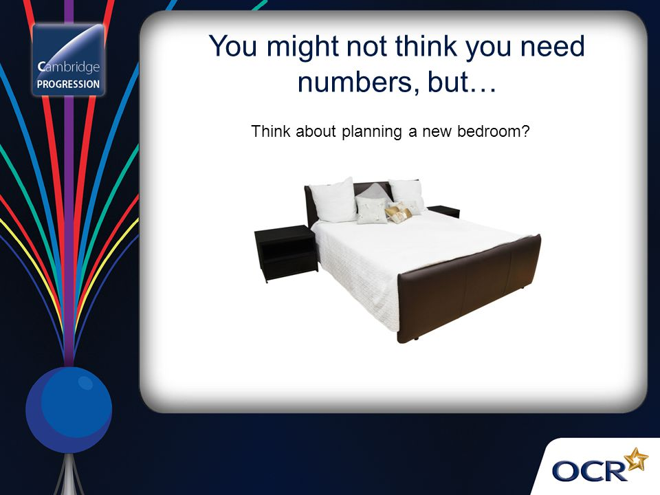 You might not think you need numbers, but… Think about planning a new bedroom
