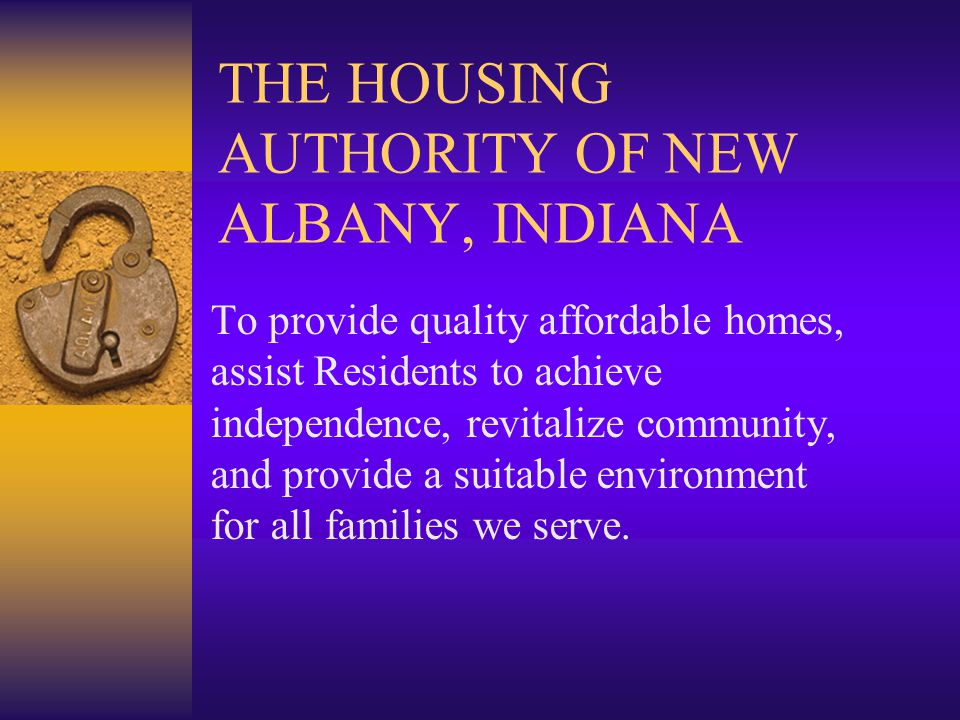 RESIDENT CONTRIBUTION RESIDENTS PAY $1,860,655.61 IN RENTAL PAYMENTS TO THE NEW ALBANY HOUSING AUTHORITY ANNUALLY.