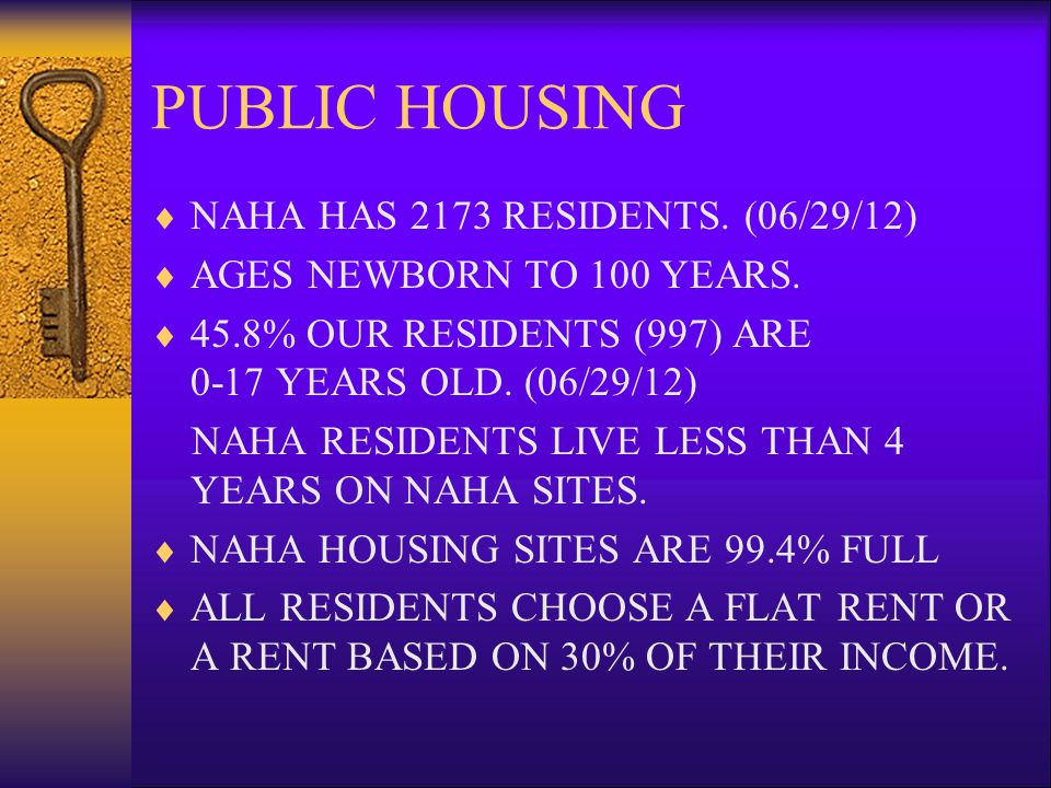 THE HOUSING AUTHORITY OF NEW ALBANY, INDIANA THE END QUESTIONS AND COMMENTS