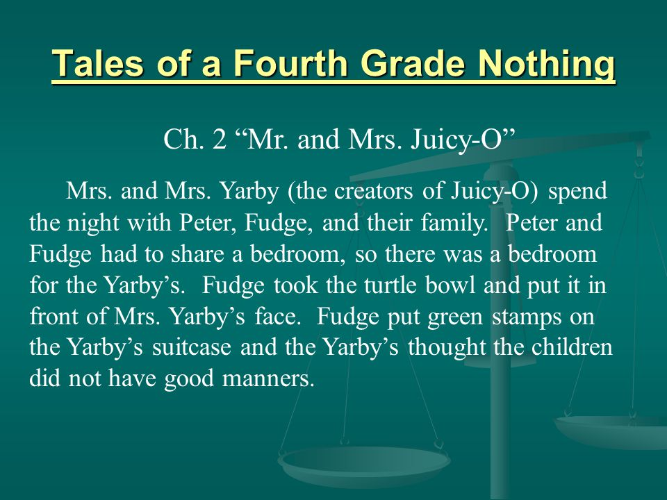 Tales of a Fourth Grade Nothing Ch.2 Mr. and Mrs.