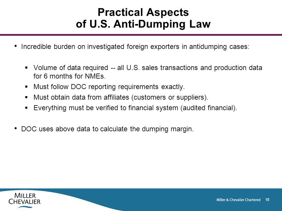18 Practical Aspects of U.S.