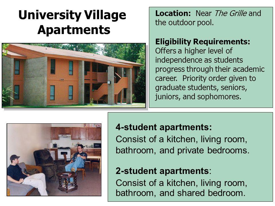 The Forest Villas Apartments Description  Contemporary apartment complex.