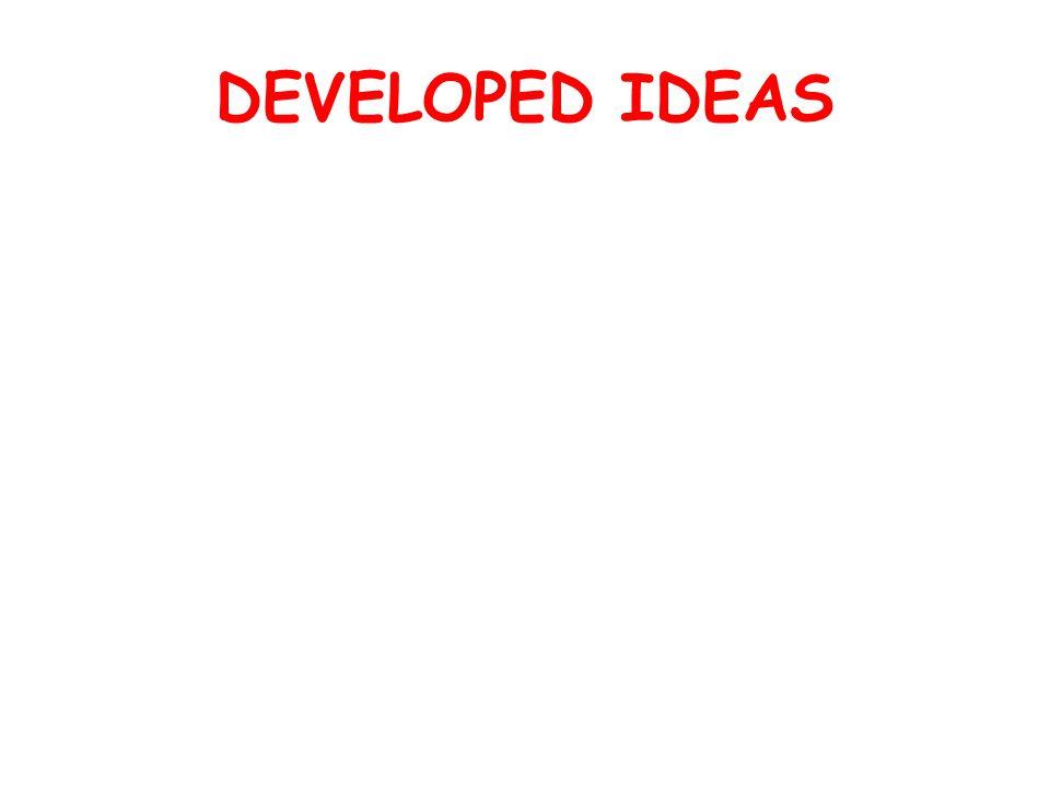 DEVELOPED IDEAS