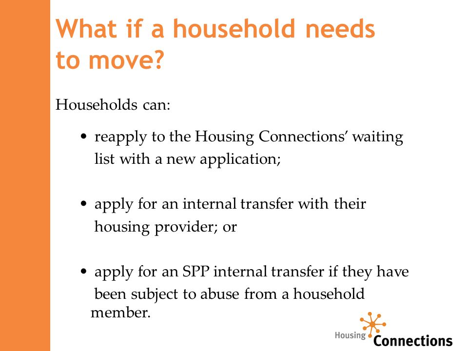What if a household needs to move.