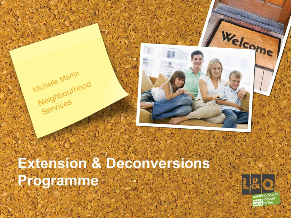 Michelle Martin Neighbourhood Services Extension & Deconversions Programme