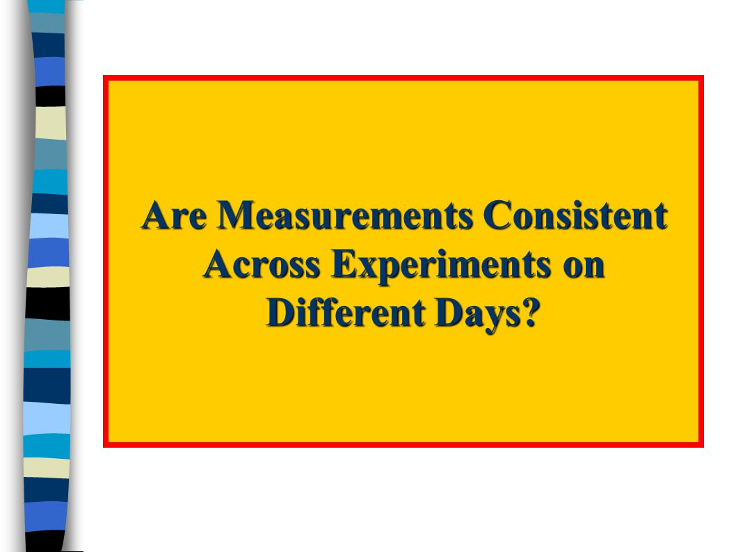 Are Measurements Consistent Across Experiments on Different Days
