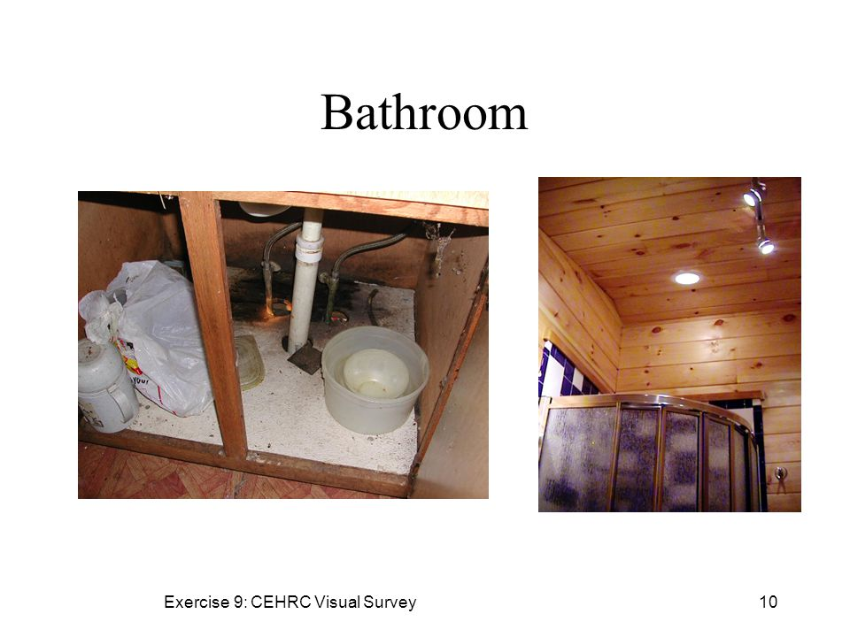 Exercise 9: CEHRC Visual Survey10 Bathroom
