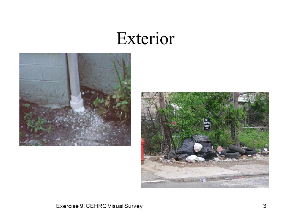Exercise 9: CEHRC Visual Survey3 Exterior