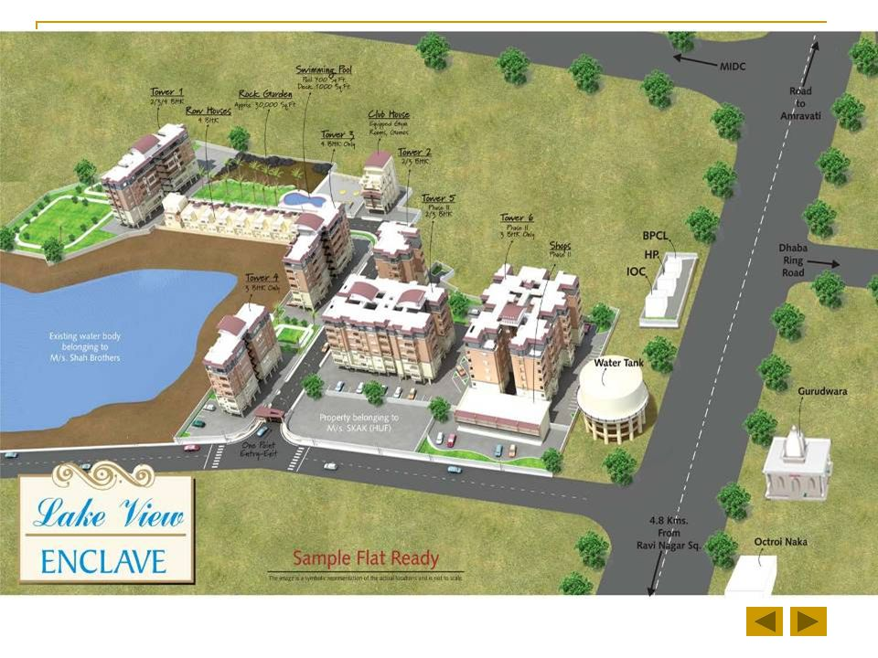 Only 4.8 kms from Ravi Nagar Square, Amravati Road SDPL's On Going Project Lake View Enclave