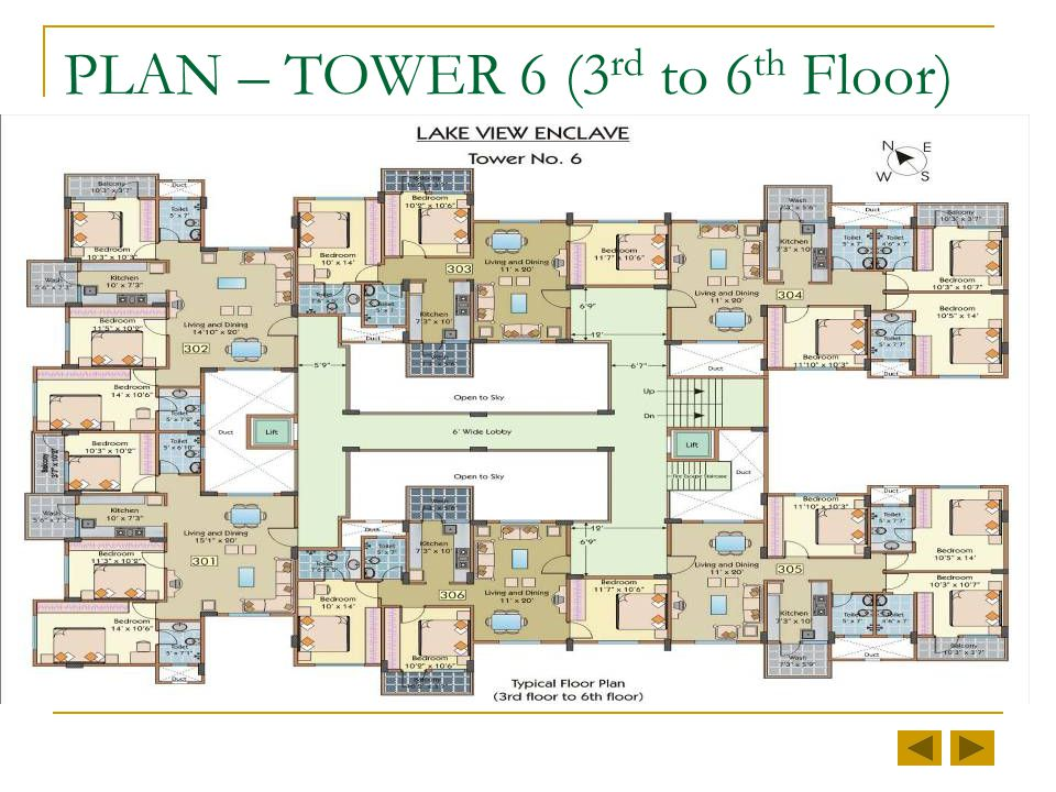 PLAN – TOWER 6 (2 nd Floor)