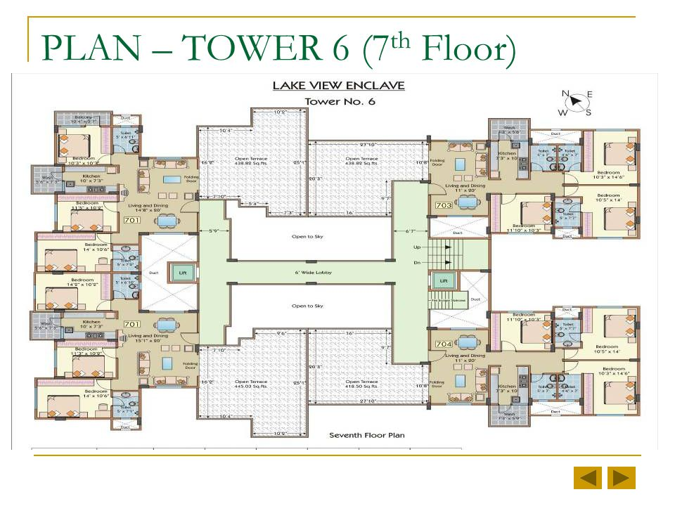 PLAN – TOWER 6 (3 rd to 6 th Floor)