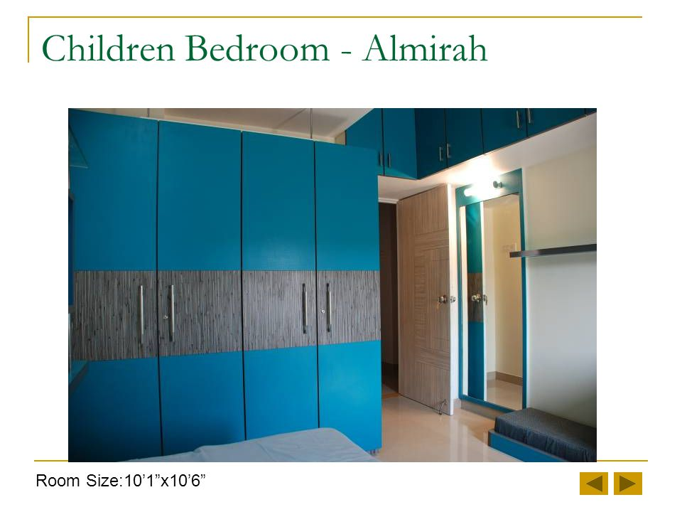Children Bedroom - Study Room Size:10'1 x10'6