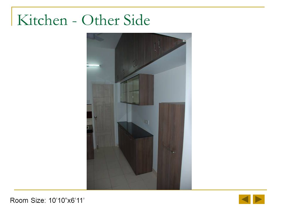 Kitchen - Cooking Platform Room Size: 10'10 x6'11'