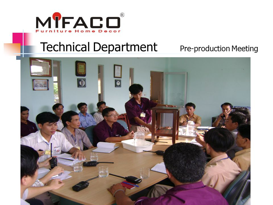 Pre-production Meeting Technical Department