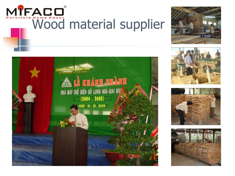 Wood material supplier
