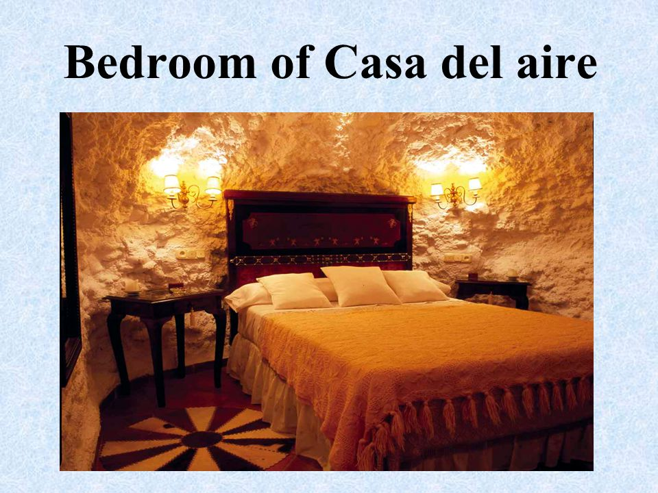 Bedroom of Casa del aire