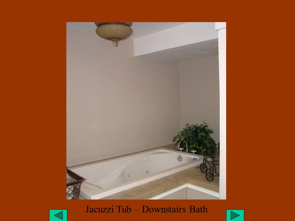 Jacuzzi Tub – Downstairs Bath